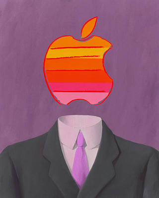 Rene Magritte Painting - Apple-man-2 by Rene Magritte and Andy Warhol