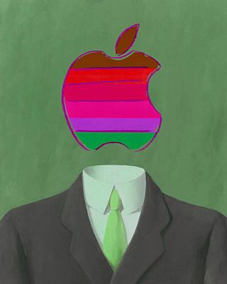 Apple-man-3 Art Print