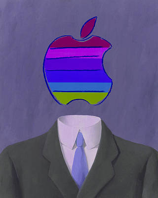 Rene Magritte Painting - Apple-man-4 by Rene Magritte and Andy Warhol