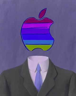 Apple-man-4 Art Print