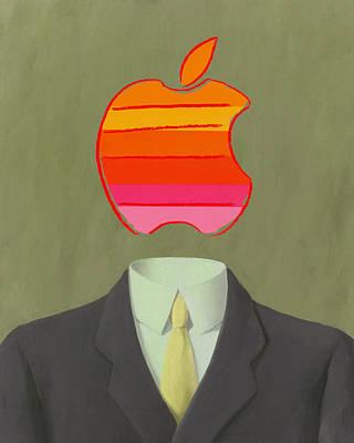 Apple-man-6 Art Print