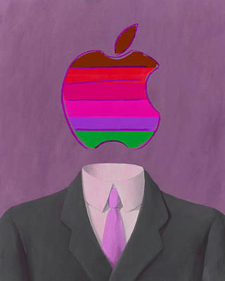 Rene Magritte Painting - Apple-man-7 by Rene Magritte and Andy Warhol