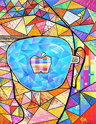 Painting - Apple Of His Eye by Jeremy Aiyadurai