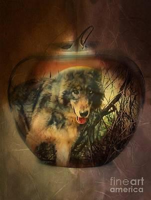 Digital Art - Apple Of My Eye by Maria Urso