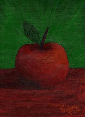 Apple Of My Eye Art Print by Valerie Tait