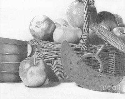 Drawing - Apple Orchard by Dave Nevue