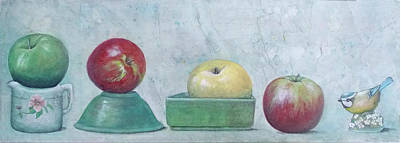 Mixed Media - Apple Parade by Sandy Clift