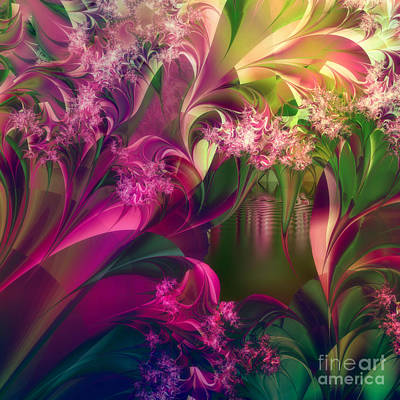 Fractal Painting - Apple Peel Brook by Mindy Sommers
