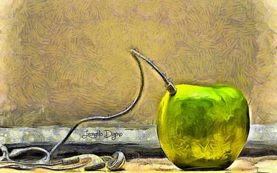 Fruit Painting - Apple Phone by Leonardo Digenio