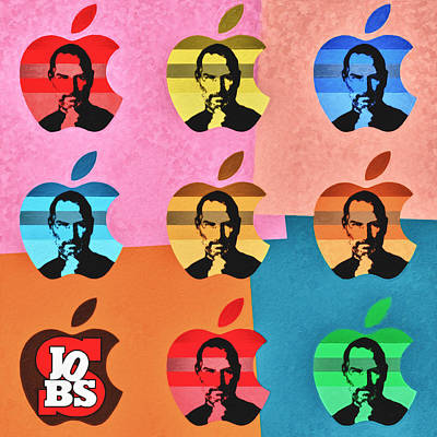 High Definition Painting - Apple Pop Art - Steve Jobs Tribute by Radu Aldea