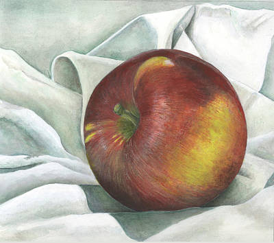 Mixed Media - Apple Portrait by Sandy Clift