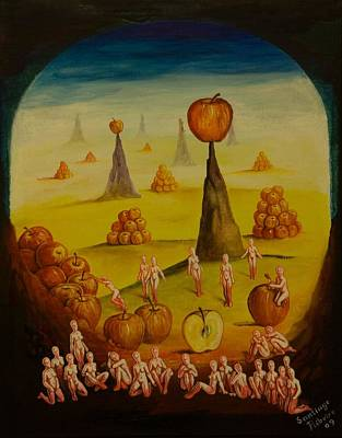Painting - Apple Rising by Santiago Ribeiro