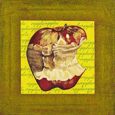 Bite Mixed Media - Apple Series Number Five by Sonja Olson