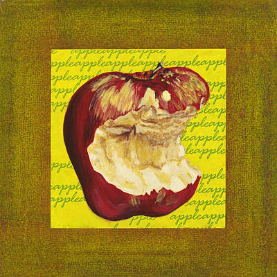 Apple Series Number Four Art Print by Sonja Olson