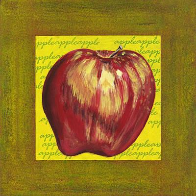 Apple Series Number One Art Print by Sonja Olson