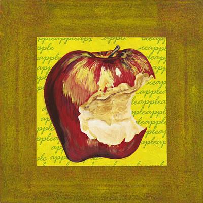 Bite Mixed Media - Apple Series Number Three by Sonja Olson