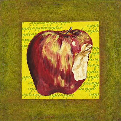Bite Mixed Media - Apple Series Number Two by Sonja Olson
