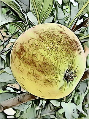 Digital Art - Apple Sketching by S Art