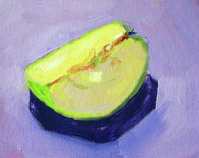 Painting - Apple Slice 2 by Nancy Merkle