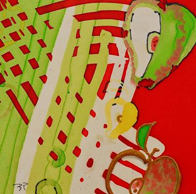 Painting - Apple Slice by Barbara Pease