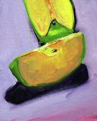 Painting - Apple Slices 3 by Nancy Merkle