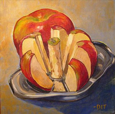 Painting - Apple Split by Denise Ivey Telep