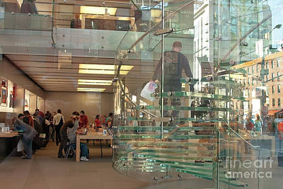 Photograph - Apple Store In New York City by Patricia Hofmeester