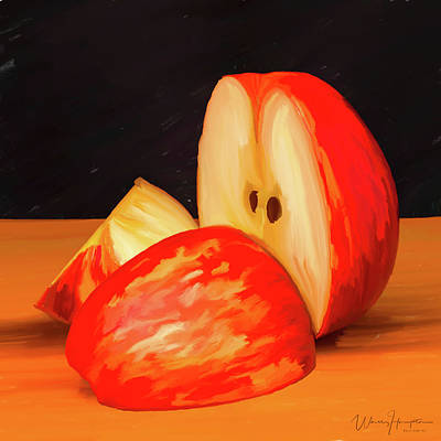 Painting - Apple Study 01 by Wally Hampton