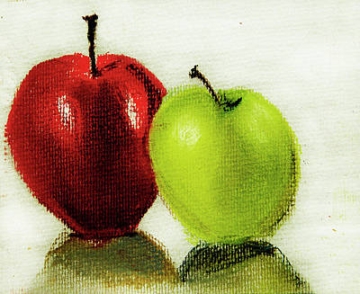 Art Print featuring the pastel Apple Study by Linde Townsend
