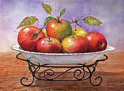 Tray Of Apples Original by Franco Puliti