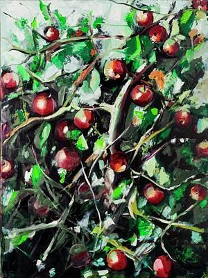Fruit Tree Art Painting - Apple Tree by Ali Hammoud