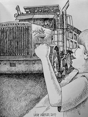 Drawing - Apple Tree Express by Larry Whitler