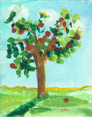 Painting - Apple Tree by Ian Reynolds