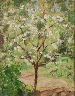 Pekka Wall Art - Painting - Apple Tree In Blossom by Pekka Halonen