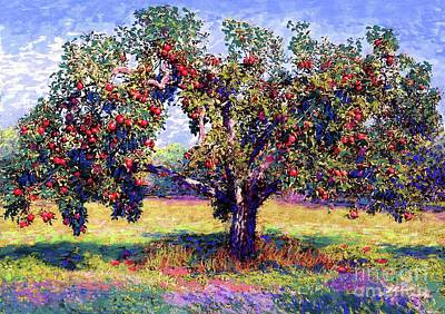 Impressionism Royalty-Free and Rights-Managed Images - Apple Tree Orchard by Jane Small