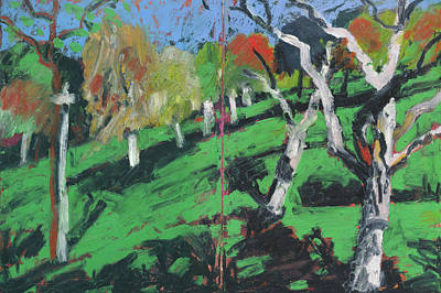 Painting - apple tree orchard -Streuobstwiese by Martin Stankewitz