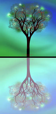 Digital Art - Apple Tree Reflection by Ericamaxine Price