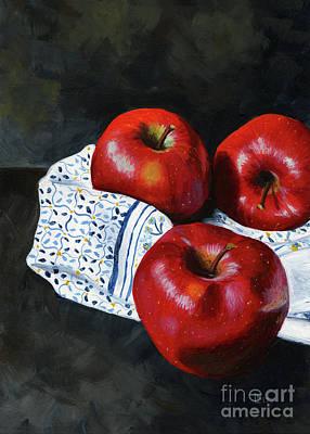 Painting - Apple Trio by Lisa Norris
