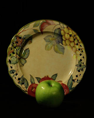 Photograph - Apple With Plate by Angie Tirado