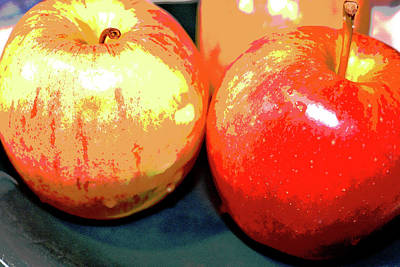 Apples Abstract 1 Print by Linda Brody