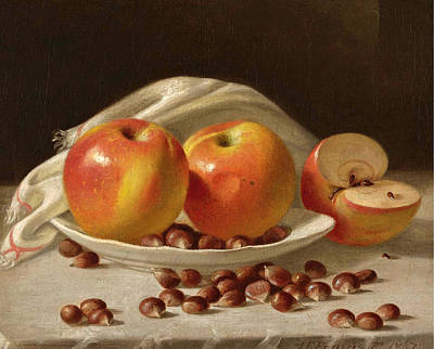 Painting - Apples And Chestnuts by John F Francis
