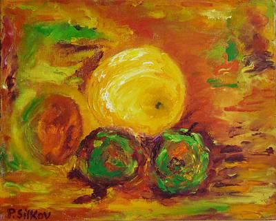 Apples And Grapefruit Original by Peter Silkov
