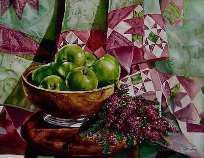 Painting - Apples And Heather by Susan Elise Shiebler