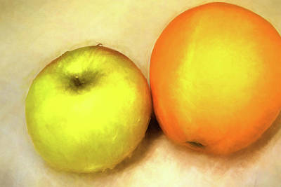 Painting - Apples And Oranges by Bonnie Bruno
