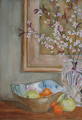 Cut Glass Painting - Apples And Oranges by Jenny Armitage