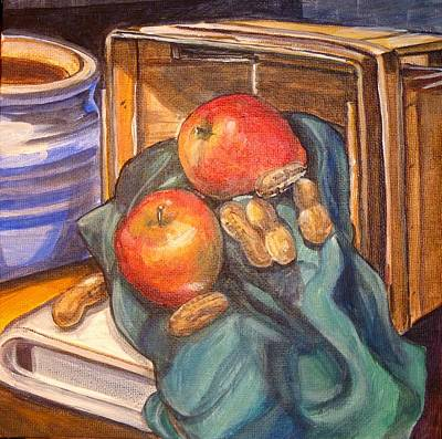 Painting - Apples And Peanuts by Denise Ivey Telep