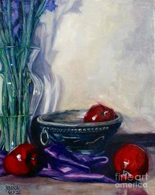 Painting - Apples And Silk by Rebecca Glaze