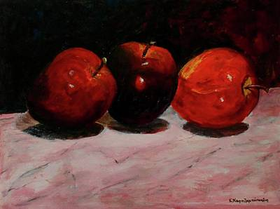 Painting - Apples by Konstantinos Charalampopoulos