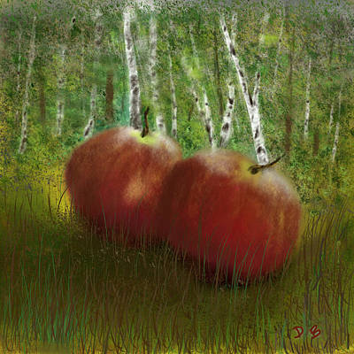 Digital Art - Apples by Dick Bourgault