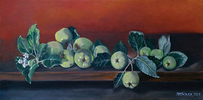 Apples From The Farm Art Print by Bertica Garcia-Dubus